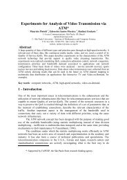 Experiments for Analysis of Video Transmission via ATM - Journal of ...