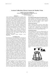 Accurate Calibration of Stereo Cameras for Machine Vision