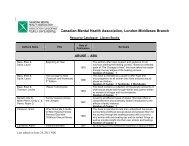 Download - Canadian Mental Health Association, London ...