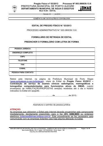 PREFEITURA MUNICIPAL DE PORTO ALEGRE - Procempa