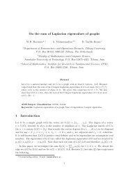 On the sum of Laplacian eigenvalues of graphs 1 ... - Math - IPM