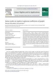 Some results on signless Laplacian coefficients of graphs - Math - IPM