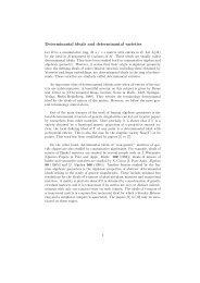 Determinantal ideals and determinantal varieties - IPM