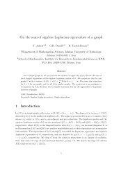 On the sum of signless Laplacian eigenvalues of a graph - Math - IPM