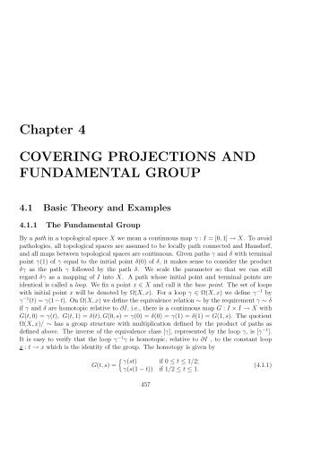 Chapter 4 COVERING PROJECTIONS AND FUNDAMENTAL GROUP