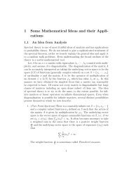 1 Some Mathematical Ideas and their Appli- cations - IPM