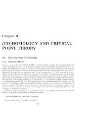 (CO)HOMOLOGY AND CRITICAL POINT THEORY - Math - IPM