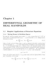 Chapter 1 DIFFERENTIAL GEOMETRY OF REAL MANIFOLDS