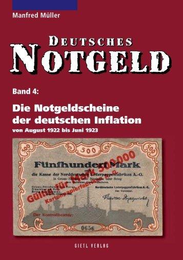 Deutsches Notgeld Band 4: Die Notgeldscheine der ... - Gietl Verlag