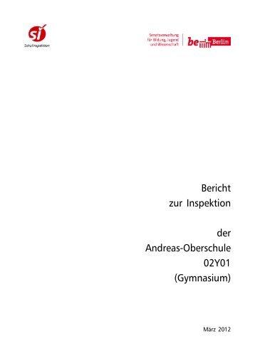 Bericht der Schulinspektion vom März 2012 - Andreas-Gymnasium