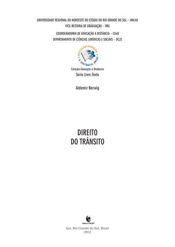 Direito do transito.pdf - Unijuí