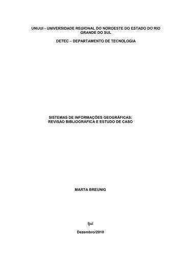UNIJUI - UNIVERSIDADE REGIONAL DO NOROESTE DO ... - Unijuí
