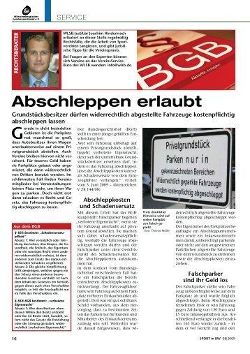 08_2009 Abschleppen erlaubt - WLSB