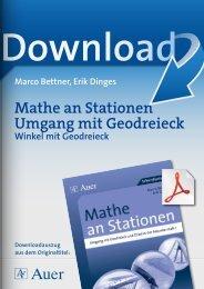 Mathe an Stationen Umgang mit Geodreieck