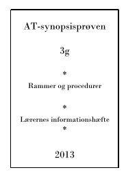 Studieretningsprojektet i 3g - Silkeborg Gymnasium