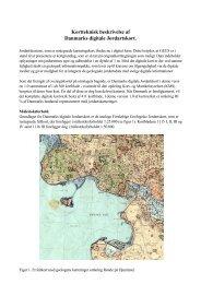 Kortteknisk beskrivelse af Danmarks digitale Jordartskort.