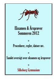 Mundtlig studentereksamen og årsprøver - maj & juni 2011