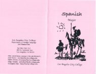 to download the LACC Spanish AA Degree Brochure - Los Angeles ...