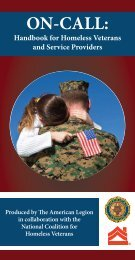ON-CALL: Handbook for Homeless Veterans and Service Providers