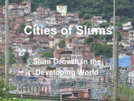 Cities of Slums - Faculty Web Pages