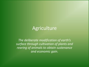 Agriculture - Faculty Web Pages