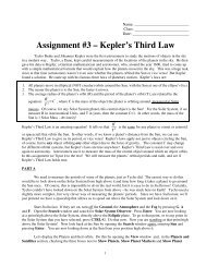 Stellarium 10 - Kepler's Third Law - Faculty Web Pages