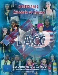 2013 Spring Semester (PDF) - Los Angeles City College