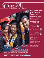 2011 Spring Semester (PDF) - Los Angeles City College