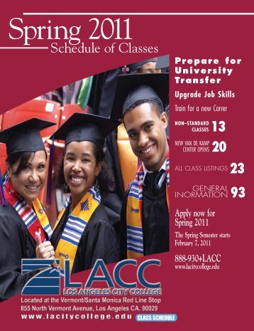 2011 Spring Semester (PDF) - Los Angeles City College