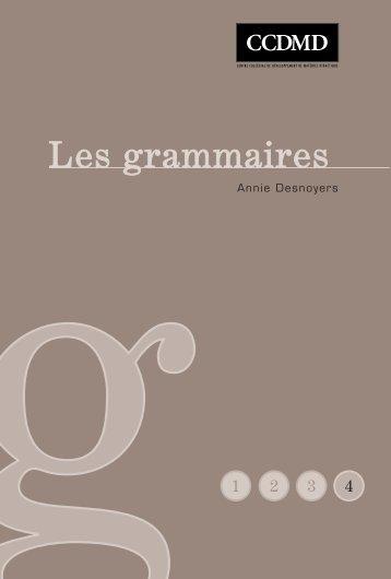 Les grammaires - Lettres, Histoire et Géographie au lycée ...
