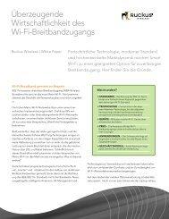 Überzeugende Wirtschaftlichkeit des Wi-Fi-Breitbandzugangs
