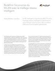 Redéfinir l'économie du WLAN avec le maillage réseau intelligent