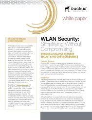 WLAN Security: Simplifying Without Compromising
