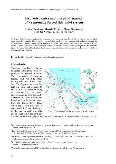Hydrodynamics and morphodynamics of a seasonally forced tidal
