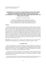 assessment of saline water intrusion into estuaries of red-thai binh ...
