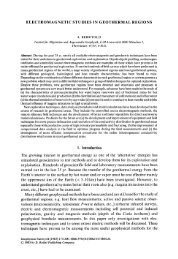 A. Berktold, Electromagnetic studies in geothermal regions - MTNet