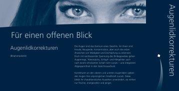Für einen offenen Blick Augenlidkorrekturen - Marcolini Praxisklinik