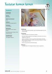 Tastatur kennen lernen - File Server - educa.ch