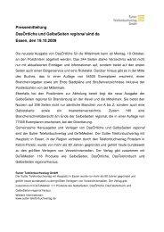 Pressemitteilung DasÖrtliche und GelbeSeiten regional sind da ...
