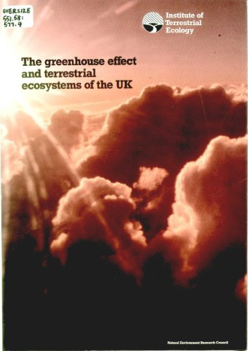 The greenhouse effect and terrestrial ecosystems of the UK