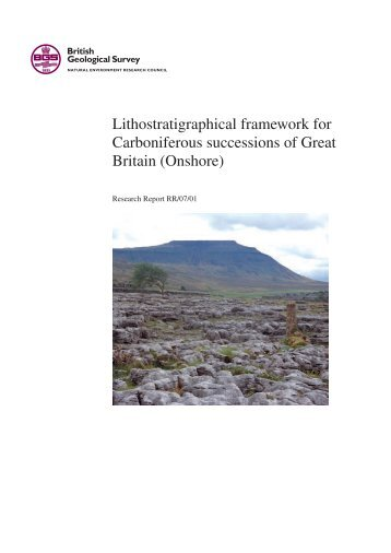 Lithostratigraphical framework for Carboniferous successions of ...