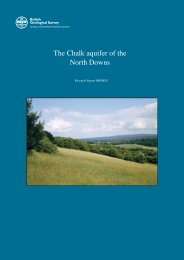 The Chalk aquifer of the North Downs - NERC Open Research Archive