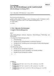 Verordnung über die Direktzahlungen an die Landwirtschaft 910.13