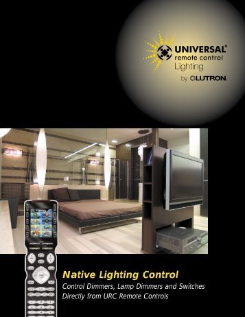 Native Lighting Control - Universal Remote Control