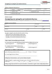 Ansøgning om optagelse på studenterkursus - AKADEMISK ...