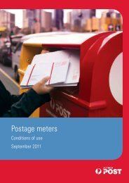 Postage meters conditions of use 8833675 - Australia Post