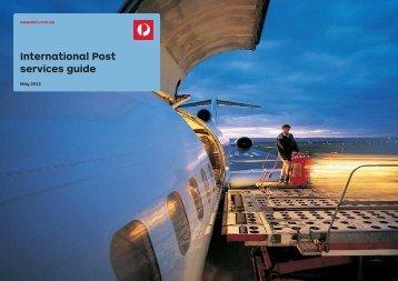 International Post Service Guide - Australia Post