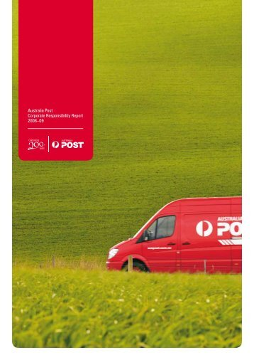 Australia Post Corporate Responsibility Report 2008–09