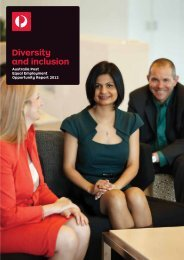 2011-12 Equal Employment Opportunity Report - Australia Post
