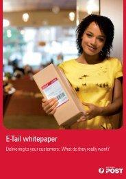 E-Tail whitepaper - Australia Post